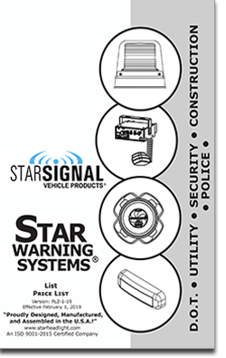 click on the covers below to display either a star warning systems or signal video products product and parts list price sheets